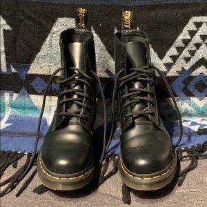 Doc Marten black combat boots